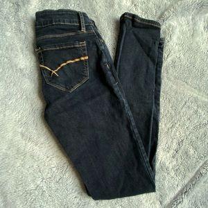 Bullhead Dark Skinny Jeans
